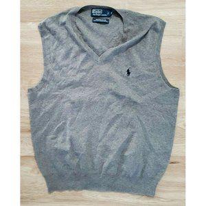 Polo Ralph Lauren Mens V-Neck Gray Sweater Vest M